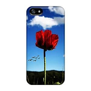 New Red Tpu Case Cover, Anti-scratch MGQwi17461kfQCR Phone Case For Iphone 5/5s