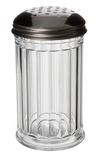 American Metalcraft SAN312 Plastic Cheese Shaker with Perforated Stainless Steel Lid, 12-Ounce