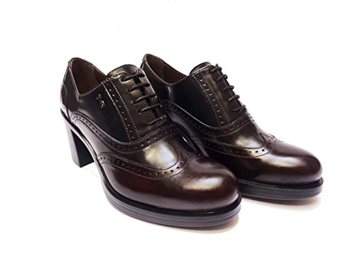 Nero Giardini 19363 scarpe da donna francesine in pelle Bordò/Grigio/Blu tacco cm. 7, num. 39