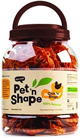 Pet n Shape Chik n Rings Natural Dog Treats, 4-Ounce
