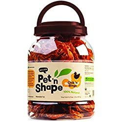 Pet 'n Shape Chik 'N Rings - All Natural Chicken Jerky Dog Treats, 2 Lb
