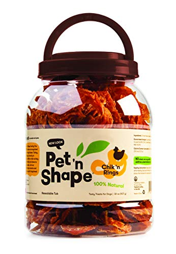 (Pet 'N Shape - Chik 'N Rings - 100-Percent Natural Chicken Jerky Dog Treats Tub, 2-Pound)
