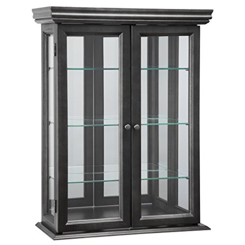 Design Toscano BN24302 Country Tuscan Wall Curio Cabinet, Ebony Black