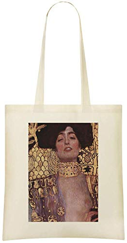 Judith Gustavo Klimt Peinture - Judith Gustavo Klimt Painting Custom Printed Grocery Tote Bag - 100% Soft Cotton - Eco-Friendly & Stylish Handbag For Everyday Use - Custom Shoulder Bags