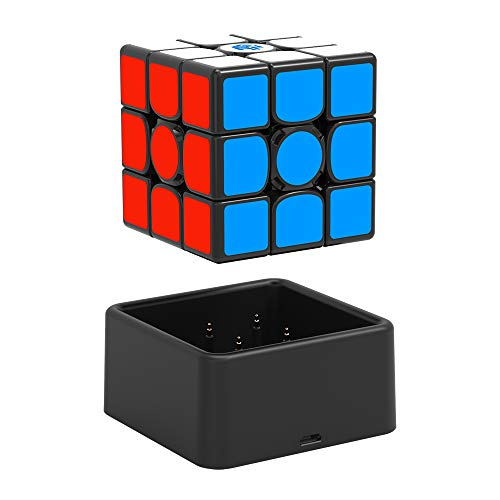 GAN356 i Stickered, 3x3 Smart Cube Intelligent Tracking Timing Movements Steps Speed Cube with CubeStation App (32