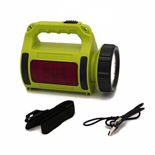 Caliburn Camping Flashlight Lantern Combo - Powerful Handheld Rechargeable Searchlight - High Beam CREE LED with High Lumens - Bright Flashing Emergency Light and USB Powerbank with included Battery by CALIBURN LIGHTING