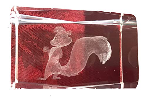 - 3D Pepe Le Pew Laser Etched Crystal 3 Inch