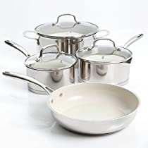Gibson Home Gleaming 7 Piece Cookware Set