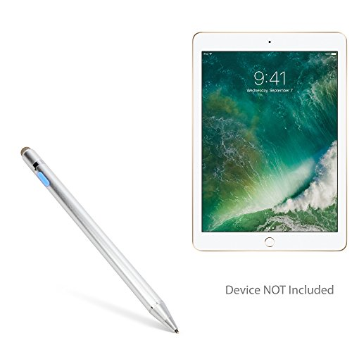 (Apple iPad (2017) Stylus Pen, BoxWave [AccuPoint Active Stylus] Electronic Stylus with Ultra Fine Tip for Apple iPad (2017) - Metallic Silver )