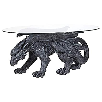 Excellent Design Toscano Warwickshire Dragon Gothic Decor Glass Topped Coffee Table 39 Inch Polyresin Grey Stone Gmtry Best Dining Table And Chair Ideas Images Gmtryco