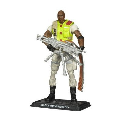 G.I. Joe - 2007 - Hasbro - Heavy Machine Gunner - Code Name: Roadblock Action Figure - w/ Base & Accessories - From the G.I. Joe Cartoon Series - New - Limited Edition - Collectible