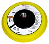 3M(TM) Hookit(TM) Disc Pad 28662, Firm, Hook and Loop Attachment, 5'' Diameter x 1/2'' Thick, 5/8''-21 Internal Thread, White  (Pack of 5)
