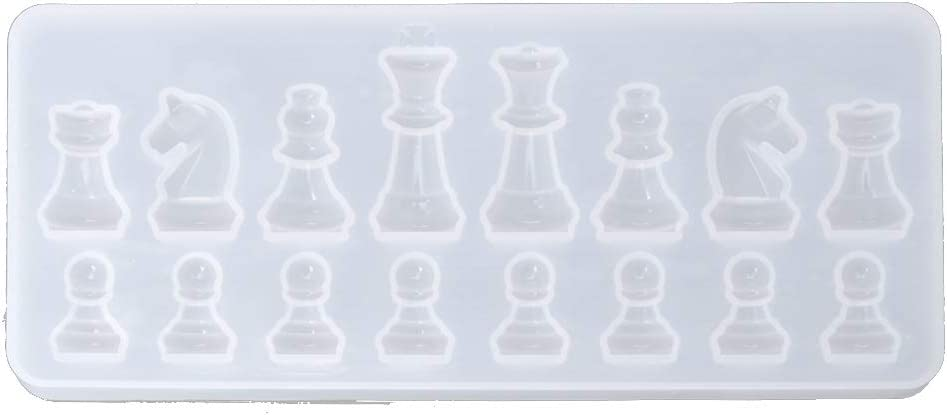 Jangmener Transparent Silicone Mould Dried International Chess Shape Mold DIY Clay Epoxy Resin Mold