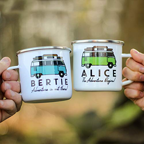 Personalised-Campervan-Enamel-Mug-Travel-Adventure-Gift-For-Him-or-Her-Add-Name-and-Text-Unique-Custom-Present