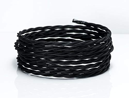 3-Meters-3-Core-Twisted-Black-075mm-Vintage-Braided-Fabric-Flexible-Electrical-Cable-High-Quality-UK-Lighting-Cable-Flex-Cord-Wire