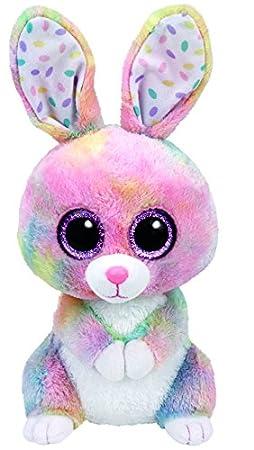 Ty 37092 - Glubschi s Beanie Boo s Bubby Conejo con ojos, 24 cm, multicolor: Amazon.es: Juguetes y juegos