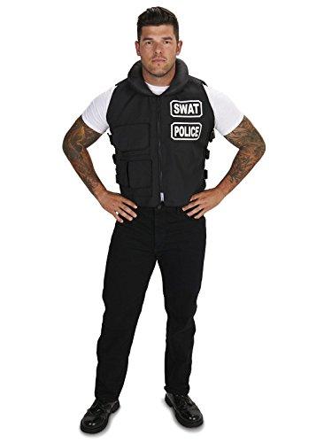 Dream Weavers Costumers SWAT Team Vest Adult Plus Costume One Size - Swat Team Costume Mens