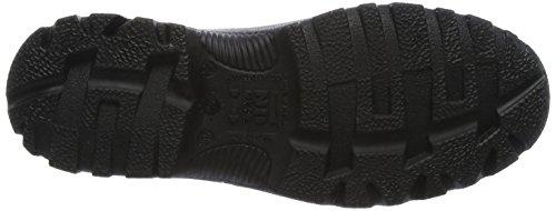 No Risk Franklin Calzado de Protección de Cuero, Hombre Negro (Black)