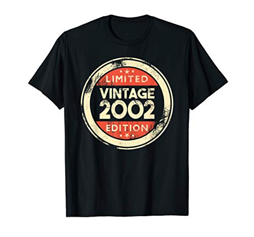 17th Birthday Gift Vintage 2002 T-Shirt- 17 Years Old Shirt
