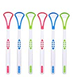 6pcs/set Tongue Cleaner Scrapers Antimicrobial Eliminate Bad Breath Halitosis Tongue Sweeper