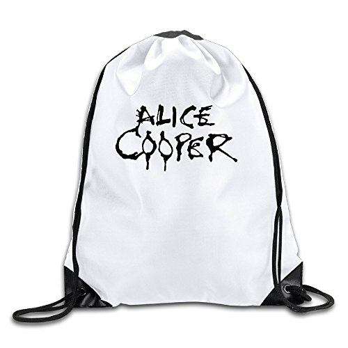 Price comparison product image BYDHX Alice Cooper Logo Drawstring Backpack Bag White