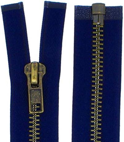 schwarz 30cm lang 322 5 mittelgrob Br/üniert Teilbar f/ür Jacken Farbe: 1 FIM Rei/ßverschluss Metall Nr