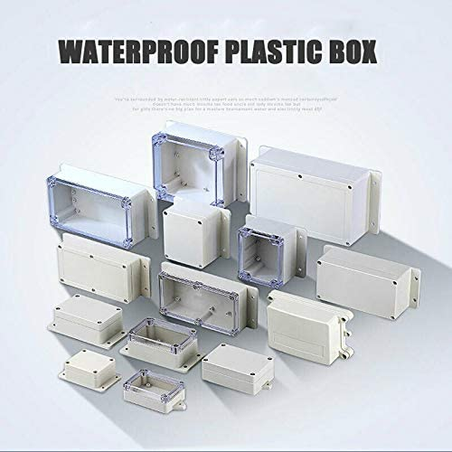 1 caja de plástico para proyectos electrónicos, resistente al agua ...