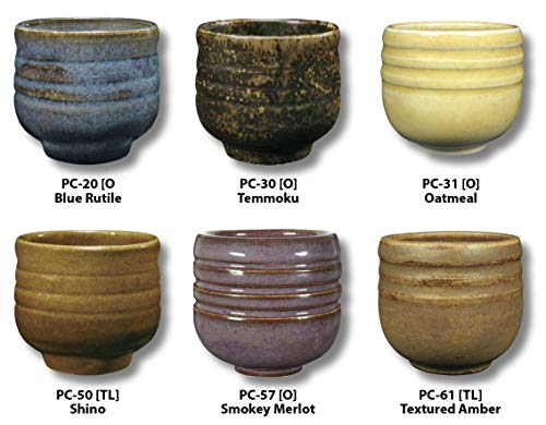 Cone 6 Glazes - AMACO 39182X Potters Choice Glazes, Set A, 1 Pint, Assorted Colors, Set of 6