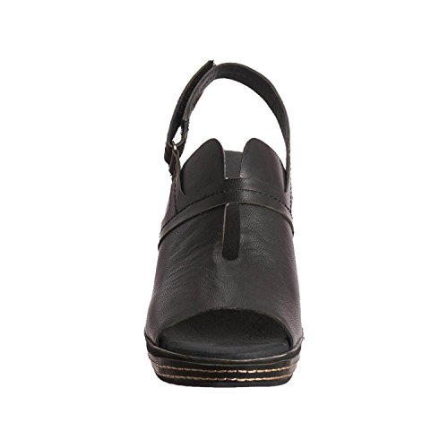 Peek Leather Women's Wedge 437 Antelope Black Ut4qYwawR