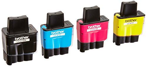 Genuine OEM Brother LC41 Ink Cartridges (Black, Cyan,Magenta,Yellow , 4-Pack ) (Genuine Oem Black Ink)
