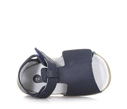 BOBUX - Sandale Step Up Mirror bleue en cuir, made in New Zealand, idéale pour les premiers pas et pour ramper, bébé garçon