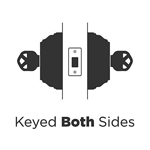 Kwikset 985 980 Series Double Cylinder Keyed Deadbolt, Polished Brass (2 Pack)