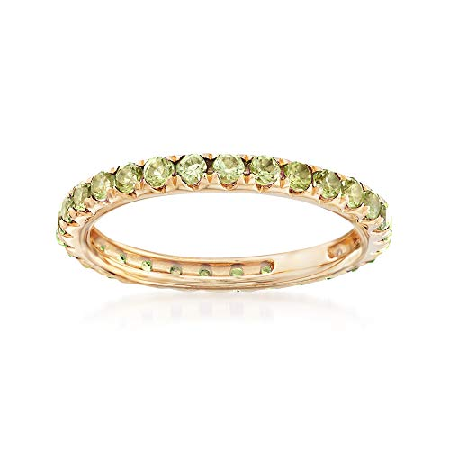 Ross-Simons 1.10 ct. t.w. Peridot Eternity Band in 14kt Yellow Gold