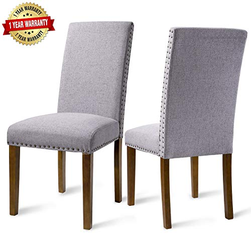 Merax Dining Chairs Dining Room Chairs Parsons Chair Kitchen Chairs Set of 2 for Home Kitchen Living Room ()
