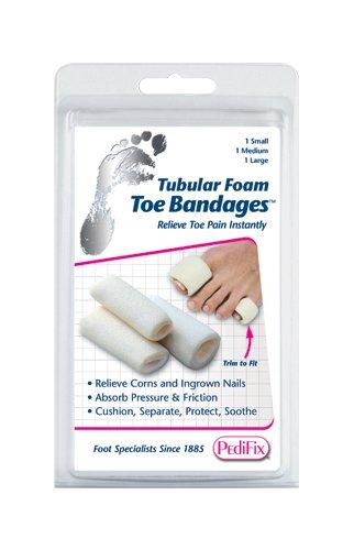 Tubular-Foam Toe Bandage Pk/3 Small