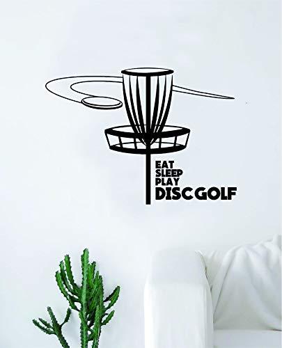- Eat Sleep Play Disc Golf Wall Decal Sticker Bedroom Home Room Art Vinyl Inspirational Decor Teen Motivational Boy Girl Sports Frisbee Throw Fun Putter Distance Driver