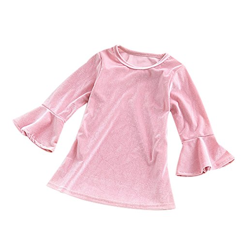 Velvet Soft Dress (Toddler Baby Girls Dress Princess Dresses Casual O-Neck Pink Velvet Soft Dress)