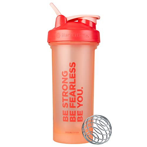 BlenderBottle Motivational Quote Classic V2 Shaker Bottle Perfect for Protein Shakes and Pre Workout, 28-Ounce, Be…