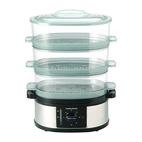 -[ Morphy Richards 48755 3 Tier Food Steamer - Stainless Steel  ]-