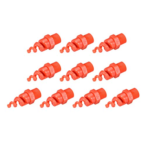 uxcell Spiral Cone Atomization Nozzle, 1/4BSPF PP Sprinkler, 10 Pcs