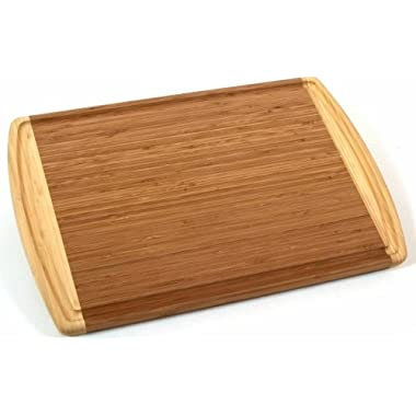 Totally Bamboo Kona Groove Cutting Board, 100% Bamboo Carving, Cutting and Serving Board, 18  by 12.5