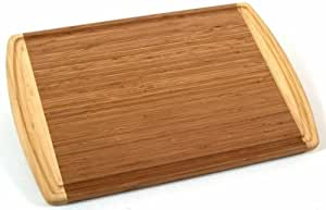 Totally Bamboo Kona Groove Cutting Board, Multi Functional Bamboo Carving, Cutting and Serving Board; 100% Organic Bamboo; Extremely Strong & Durable; Perfect for Cooking, Entertaining, Décor & Gift