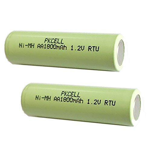 2pcs 1.2V NIMH AA 1800mAh Ready To Use Precharged battery