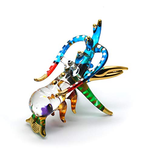 Zoo Craft Hand Blown Glass Figurine Lobster Handmade Miniature Animal Art