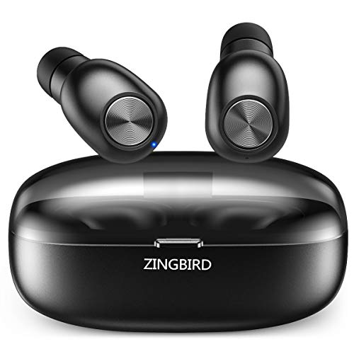 Bluetooth Headphones,ZINGBIRD 5.0 True Wireless Earbuds Deep Bass Super Mini in Ear Bluetooth Earphones HiFi Stereo Sound Headset with Charging Case and Built in Mic for iPhone and Most Android Phones