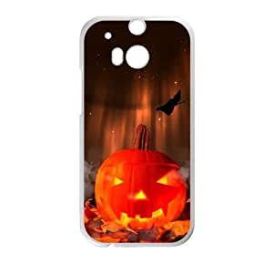 HTC One M8 White phone case Halloween Pumpkin The best gift DVE3557763
