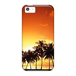 Anti-scratch And Shatterproof Beach Sunrise Phone Case For Iphone 4/4s/ High Quality Tpu Case