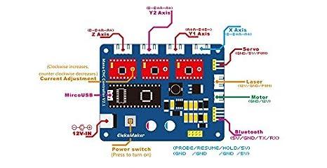 madat eleksmaker® Mana de 3 ejes Motor Paso controlador de controladores para DIY de Laser Gra 4: Amazon.es: Industria, empresas y ciencia