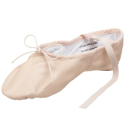 Capezio Women's Leather Cobra Ballet Shoe,Light Pink,10.5 M US