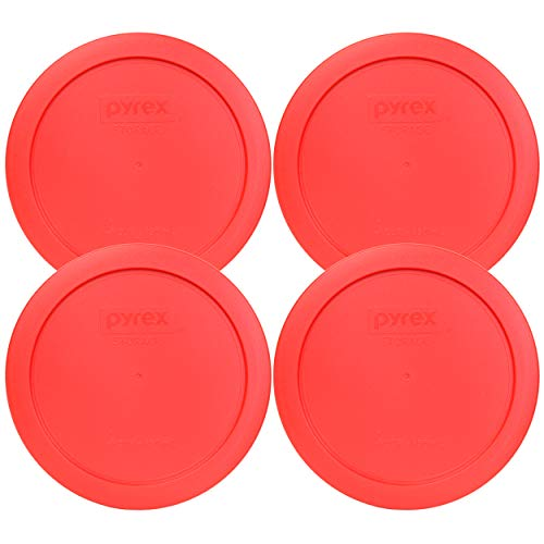 Pyrex 7201-PC Round Red 6.5